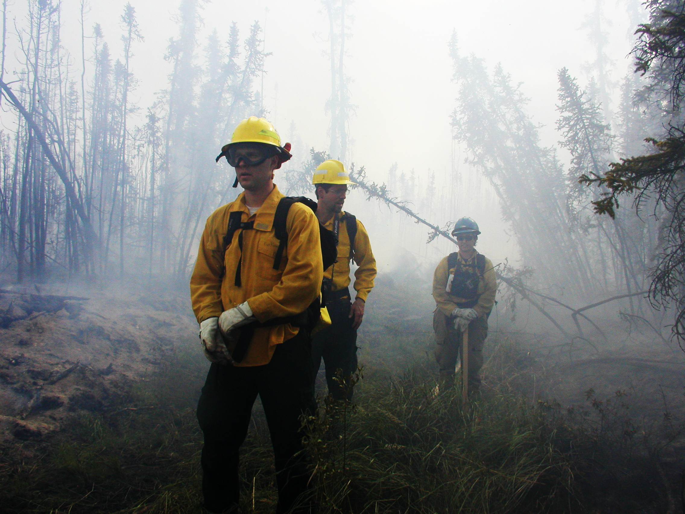 Firefighters at the Nenana Ridge Project