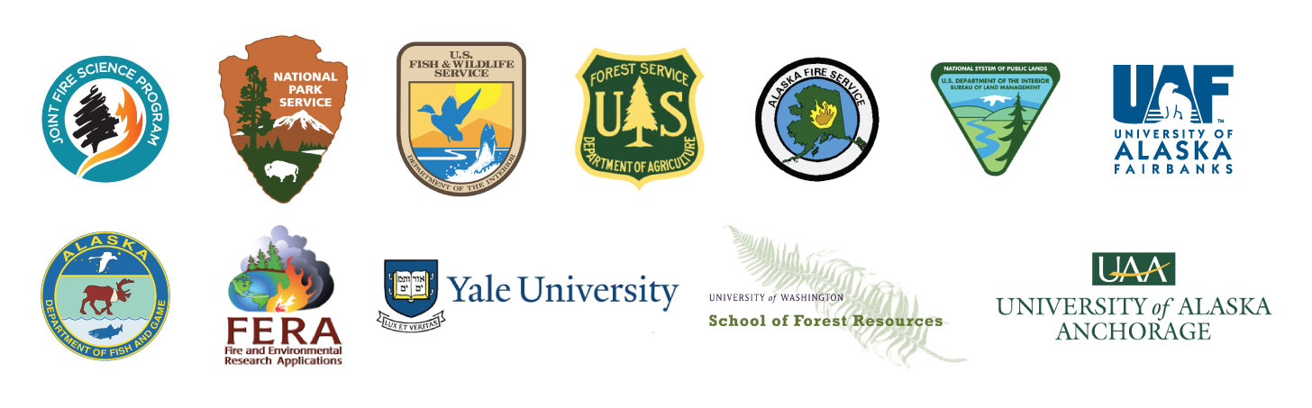 Alaska Boreal Fire History Project Partner Logos