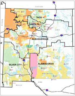 New Mexico Fire Operations Maps